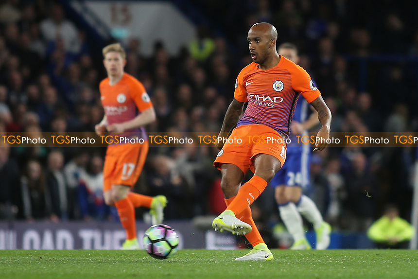 Fabian Delph of Manchester City in action during Chelsea vs Manchester City, Premier League Football at Stamford Bridge on 5th April 2017