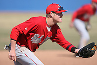 April 5, 2009:  /3b/ Kolbrin Vitek (13) of the Ball State Cardinals during a game at Amherst Audubon Field in Buffalo, NY.  Photo by:  Mike Janes/Four Seam Images