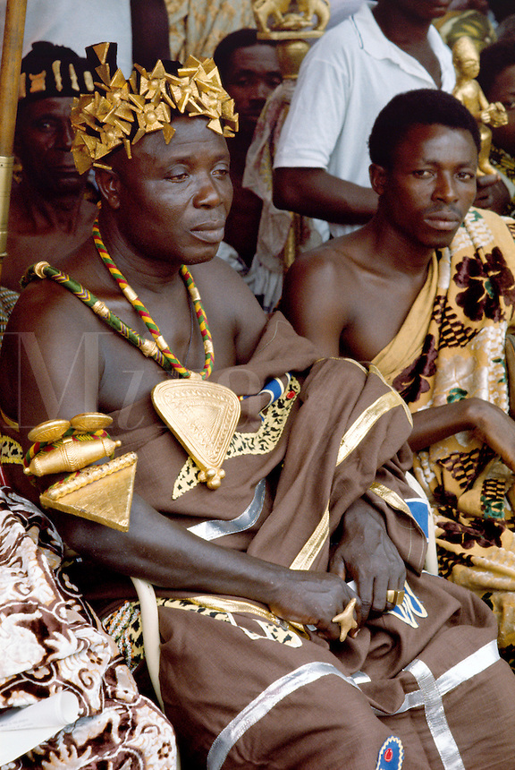 Tribal chief at a government ceremony in Ghana, Africa.