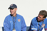 U.S. head coach John Hackworth (r) with assistant coach Keith Fulk (l). The United States Men's Under 17 National Team defeated El Salvador's U-17 National Team in an international friendly on Sunday, March 25th, 2007 at Raymond James Stadium in Tampa, Florida.