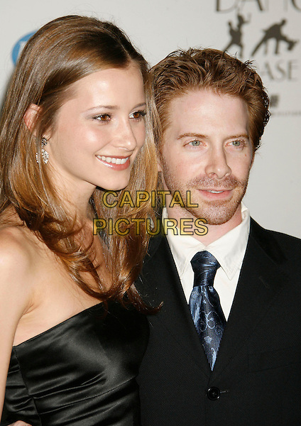 "CANDACE BAILEY & SETH GREEN.14th Annual Race to Erase MS Themed ""Dance to Erase MS"" held at the Century Plaza Hotel, Century City, California, USA, 13 April 2007..half length  black suit dress tie strapless couple.CAP/ADM/RE.©Russ Elliot/AdMedia/Capital Pictures."