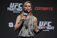 GOIÂNIA, GO, 29.05.2015 – UFC-GOIÂNIA – Paula Sack apresentadora do UFC durante pesagem para o UFC Goiânia no Goiânia Arena em Goiânia na tarde desta sexta-feira, 29.(Foto: Ricardo Botelho / Brazil Photo Press)