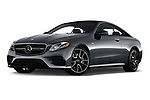 Stock pictures of low aggressive front three quarter view of 2019 Mercedes Benz E-Class AMG-E53 2 Door Coupe Low Aggressive