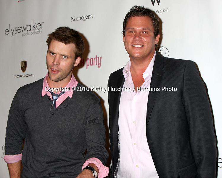 LOS ANGELES - SEP 25:  Jesse Spencer & Bob Guiney arrives at the Pink Party 2010 at W Hollywood Hotel on September 25, 2010 in Los Angeles, CA