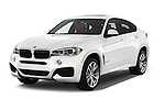 2017 BMW X6 sDrive35i 5 Door SUV Angular Front stock photos of front three quarter view