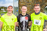 John O'Sullivan castleisland, Tommy Commane and Denis McCarthy both Tralee at the Puck Warriors Duathlon in Killorglin on Saturday