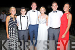 Pictured at the Waterville Lake Hotel on Saturday at the Colaiste na Sceilge Debs Ball were l-r; Emma O'Shea, James O'Connor, Denis Daly, Sarah Louise O'Connell, Kieran O'Driscoll & Gemma Musgrave.
