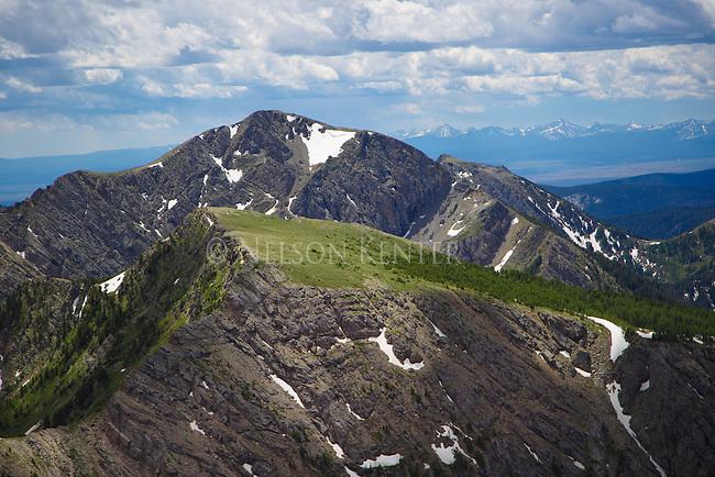 McGlaughlin Peak and south as viewed from Warren Peak in the Anaconda Pintler Wilderness in western Montana.