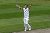 Sam Cook of Essex appeals for the wicket of Keaton Jennings during Lancashire CCC vs Essex CCC, Specsavers County Championship Division 1 Cricket at Emirates Old Trafford on 9th June 2018