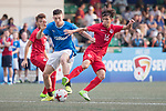 Glasgow Rangers (in blue) vs HKFA Red Dragons (in red), during their Main Tournament match, part of the HKFC Citi Soccer Sevens 2017 on 27 May 2017 at the Hong Kong Football Club, Hong Kong, China. Photo by Chris Wong / Power Sport Images