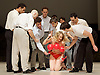 Tanztheater Wuppertal Pina Bausch <br /> &lsquo;Masurca Fogo&rsquo; <br /> at Sadler's Wells, London, Great Britain <br /> rehearsals<br /> 8th February 2017 <br /> <br /> Tanztheater Wuppertal Pina Bausch: Masurca Fogo<br /> &nbsp;Julie Shanahan<br /> <br /> Masurca Fogo, created by the endlessly inventive Pina Bausch, returns to Sadler&rsquo;s Wells from 9 - 12 February 2017. The piece is performed by the legendary Tanztheater Wuppertal Pina Bausch, a Sadler&rsquo;s Wells International Associate Company.<br /> <br /> <br /> <br /> <br /> Performers:<br /> Regina Advento, Pablo Aran Gimeno, Emma Barrowman, Rainer Behr, Andrey Berezin, Michael Carter, &Ccedil;ağdaş Ermis, Silvia Farias Heredia, Jonathan Fredrickson, Ditta Miranda Jasjfi, Daphnis Kokkinos, Cristiana Morganti, Breanna O&rsquo;Mara, Nazareth Panadero, Julie Shanahan, Oleg Stepanov, Julian Stierle, Fernando Suels Mendoza, Aida Vainieri, Ophelia Young.<br /> <br /> Photograph by Elliott Franks <br /> Image licensed to Elliott Franks Photography Services