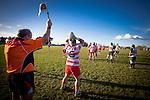 Vidar Tupou prepares to throw a lineout for Karaka late in the game. Counties Manukau Premier Club Rugby game between Karaka and Manurewa, played at Karaka, on Saturday June 14 2014. Karaka won the game 63- 24 after leading 32 - 10 at halftime  Photo by Richard Spranger