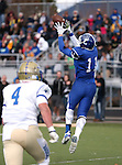 Carson's Ian Shulz makes a reception for a two point conversion against Reed during the NIAA D-1 Northern Regional title game at Bishop Manogue High School in Reno, Nev., on Saturday, Nov. 29, 2014. Reed won 28-25.<br /> Photo by Cathleen Allison