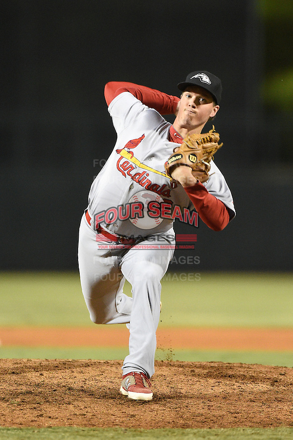 Peoria Javelinas pitcher Chris Perry (38) during an Arizona Fall League game against the Glendale Desert Dogs on October 13, 2014 at Camelback Ranch in Phoenix, Arizona.  The game ended in a tie, 2-2.  (Mike Janes/Four Seam Images)