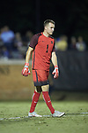 Duke Blue Devils goalie Will Pulisic (1) during first half action against the Wake Forest Demon Deacons at W. Dennie Spry Soccer Stadium on September 29, 2018 in Winston-Salem, North Carolina.  The Demon Deacons defeated the Blue Devils 4-2.  (Brian Westerholt/Sports On Film)