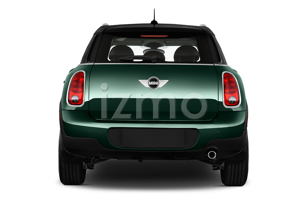 Straight rear view of 2016 MINI Countryman Countryman 5 Door Hatchback Rear View  stock images