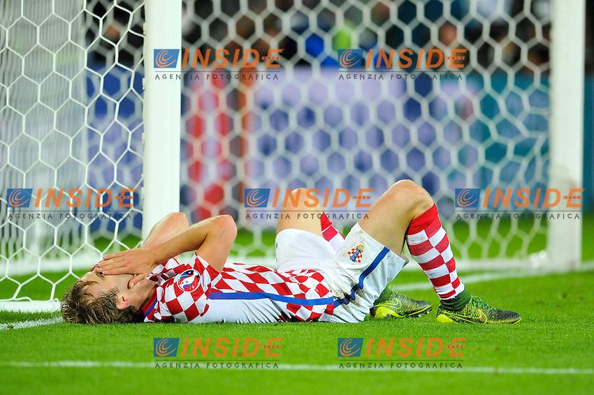03 Ivan Strinic (cro) - DEJECTION Delusione <br /> Lens 256-06-2016 Stade Bollaert-Delelis Football Euro2016 Croatia - Portugal / Croazia - Portogallo of 16. Foto Philippe Lecoeur / Panoramic / Insidefoto