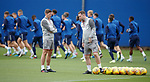 28.08.2019 Rangers training: Steven Gerrard and Michael Beale