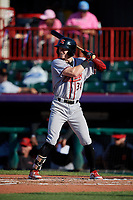 Richmond Flying Squirrels Bryce Johnson (34) at bat during an Eastern League game against the Erie SeaWolves on August 28, 2019 at UPMC Park in Erie, Pennsylvania.  Richmond defeated Erie 6-4 in the first game of a doubleheader.  (Mike Janes/Four Seam Images)