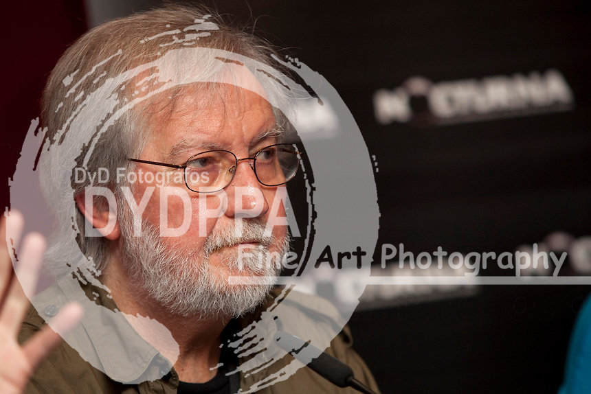 "American film director Tobe Hooper promotes his book ""The Texas Chainsaw Massacre"" ""La Matanza de Texas "" during Nocturna fantasy films festival at Fnac Callao in Madrid on May 28, 2013. Photo by  Nacho Lopez / DYD FOTOGRAFOS-DYDPPA"