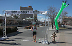 First female finisher, and second overall, Ramona Sanchez in the Shamrock Shuffle 5k fun run in Sparks on Saturday, March 4, 2017.