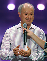 Quebec actor Louis-Georges Girard speaks during the telethon operation Enfant-Soleil held at the pavillon de la Jeunesse in Quebec city May 31, 2009. Operation Enfant-Soleil is the French-canadian version of the Children's Miracle Network (CMN), an international non-profit organization that raises funds for Children's hospitals, medical research and community awareness of children's health issues. Francis Vachon/TCPI/The Canadian Press
