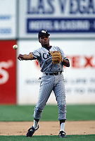 1996: Neifi Perez of the Colorado Springs Sky Sox during game at Cashman Field in Las Vegas,NV.  Photo by Larry Goren/Four Seam Images