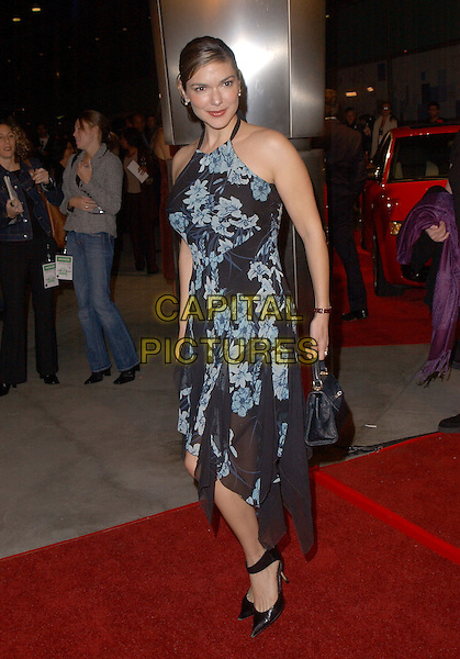 "LAURA ELENA HARRING.The Sony Picture Classics' Premiere of ""William Shakespeare's The Merchant of Venice"" which was part of the AFI Fest 2004 held at The Cinerama Dome in Hollywood, California .November 9th, 2004.full length, floral print, flowing dress, blue.www.capitalpictures.com.sales@capitalpictures.com.©Debbie Van Story/Capital Pictures"