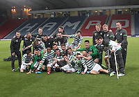 Celtic after wining the Dunfermline Athletic v Celtic Scottish Football Association Youth Cup Final match played at Hampden Park, Glasgow on 1.5.13.