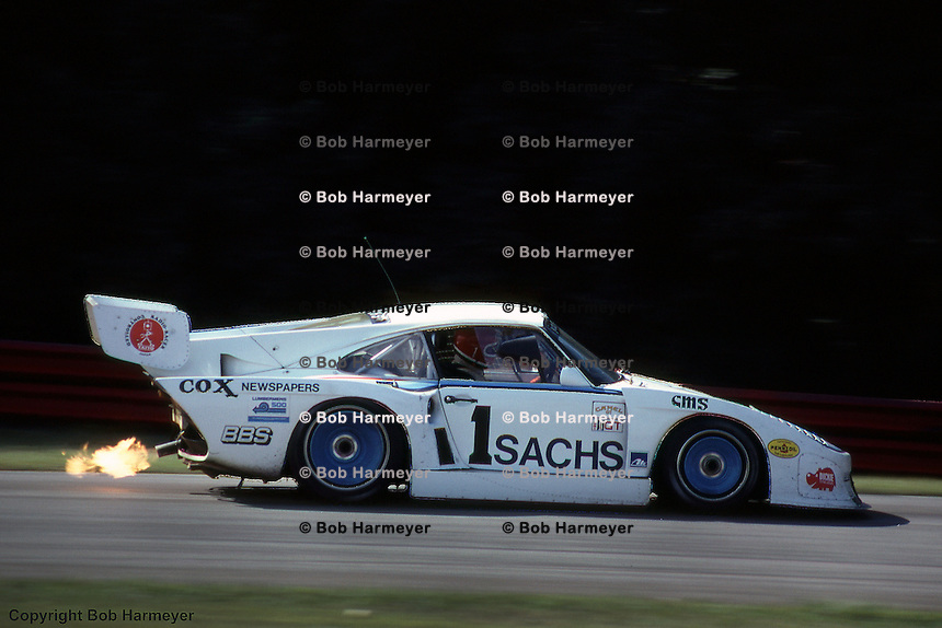 John Fitzpatrick drives a Porsche 935 during a 1981 IMSA race at Mid-Ohio Sports Car Course near Lexington, Ohio.