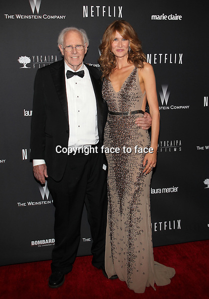 Beverly Hills, California - January 12: Bruce Dern, Laura Dern at The Weinstein Company &amp; Netflix 2014 Golden Globes After Party on January 12, 2014 at The Beverly Hilton Hotel, California. <br />