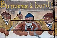 Europe/France/Bretagne/56/Morbihan/Carnac: Détail enseigne du restaurant: La Calypso