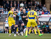 Paul Hayes of Wycombe Wanderers during the Sky Bet League 2 match between Wycombe Wanderers and Accrington Stanley at Adams Park, High Wycombe, England on the 30th April 2016. Photo by Liam McAvoy / PRiME Media Images.