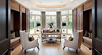 BNPS.co.uk (01202 558833)<br /> Pic: Savills/BNPS<br /> <br /> Drawing room.<br /> <br /> Fairway to Heaven - Hills End has been described as 'a fabulous new masterpiece'. <br /> <br /> This breathtaking brand new mansion only a pitching wedge from one the most exclusive golf clubs in the country has emerged for sale for a whopping £22m.<br /> <br /> Hills End nestles within the prestigious Sunningdale estate in Surrey, home of the £4,000 a year Sunningdale Golf Club which dates back to 1900 and has hosted the Women's British Open and the Senior Open Championship.<br /> <br /> The newly-built property sits on a 1.75 acre plot  boasting six bedrooms, eight reception areas, a swimming pool complex with spa, sauna and yoga rooms along with a large cinema. and walk in wardrobes.<br /> <br /> The incredible Palladian style home is on the market with estate agents Savills who describe it as 'a fabulous new masterpiece'...that comes with a whopping £22 million price tag.