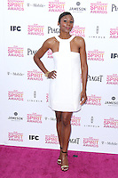 SANTA MONICA, CA - FEBRUARY 23: Emayatzy Corinealdi at the 2013 Film Independent Spirit Awards at Santa Monica Beach on February 23, 2013 in Santa Monica, California. Credit: MediaPunch Inc.