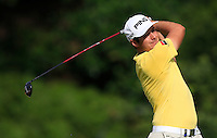 Julien Quesne (FRA) on the 7th tee during Round 3 of the Maybank Malaysian Open at the Kuala Lumpur Golf & Country Club on Saturday 7th February 2015.<br /> Picture:  Thos Caffrey / www.golffile.ie