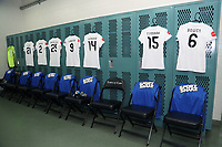 Cary, North Carolina  - Saturday June 03, 2017: FCKC locker room prior to a regular season National Women's Soccer League (NWSL) match between the North Carolina Courage and the FC Kansas City at Sahlen's Stadium at WakeMed Soccer Park. The Courage won the game 2-0.