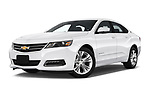 Stock pictures of low aggressive front three quarter view of 2019 Chevrolet Impala 1LT Door Sedan Low Aggressive