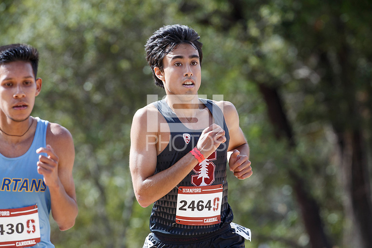 Stanford, CA - September 29, 2018: Tai Dinger during the Stanford Cross Country Invitational held Saturday morning on the Stanford Golf course.