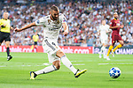 Real Madrid Karim Benzema during UEFA Champions League match between Real Madrid and A.S.Roma at Santiago Bernabeu Stadium in Madrid, Spain. September 19, 2018. (ALTERPHOTOS/Borja B.Hojas)