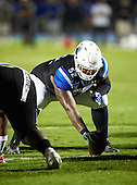 IMG Academy Ascenders center Cesar Ruiz (52) during a game against the St. Frances Academy Panthers on November 12, 2016 at IMG Academy in Bradenton, Florida.  IMG defeated St. Frances 38-0.  (Mike Janes Photography)