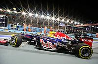SINGAPURA, SINGAPURA, 21 SETEMBRO 2012 - FORMULA 1 - GP DE SINGAPURA - O piloto alemao Sebastian Vettel da equipe Red Bull durante treino livre nesta sexta-feira, 21, para o GP de Singapura que acontecera no proximo domingo. (FOTO: PIXATHLON / BRAZIL PHOTO PRESS).