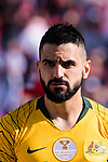 Aziz Behich of Australia prior to the AFC Asian Cup UAE 2019 Group B match between Palestine (PLE) and Australia (AUS) at Rashid Stadium on 11 January 2019 in Dubai, United Arab Emirates. Photo by Marcio Rodrigo Machado / Power Sport Images