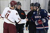 Chris Calnan (BC - 11), Tim Benedetto, Michael Barker, Derek Pratt (UConn - 2) - The Boston College Eagles defeated the visiting UConn Huskies 2-1 on Tuesday, January 24, 2017, at Kelley Rink in Conte Forum in Chestnut Hill, Massachusetts.