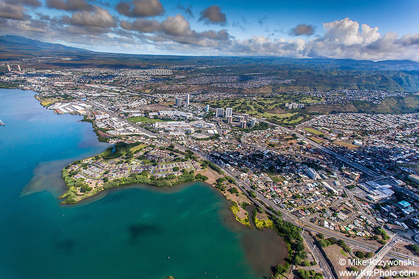 Aerial view of Aiea & Pearl City, Oahu