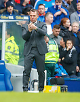 11.3.2018 Rangers v Celtic:<br /> Brendan Rodgers rejgs his formation after going down to 10 men