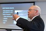 ZANDVOORT - GOLF -Jim Ross ., research manager  Canadees Turfgrass Research Foundation. DTRF (Dutch Turfgrass Research Foundation)  congres. COPYRIGHT KOEN SUYK