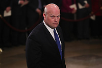 Acting U.S. Attorney General Matthew Whittaker arrives inside the U.S. Capitol Rotunda for a ceremony honoring late former U.S. President George H. W. Bush in Washington, U.S., December 3, 2018. <br /> CAP/MPI/RS<br /> &copy;RS/MPI/Capital Pictures