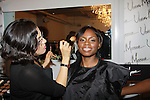 """Delaina Dixon, Editor-In Chief """"TV DivaGal of DivaGalsDaily.com get made up at Let's Celebrate - The Diva Gals Style Lounge on October 5, 2011 at Select Strands, New York City, New York. DivaGalsDaily.com is the premier website inspiring DivaGals around the globe to celebrate evry living moment in a savvy, sophisticated and social way.  (Photo by Sue Coflin/Max Photos)"""