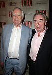 Tim Rice & Andrew Lloyd Webber.attending the Broadway Opening Night Performance of 'EVITA' at the Marquis Theatre in New York City on 4/6/2012